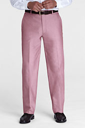 Men's Traditional Fit Plain Front Heathered Twill Pants