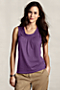 Women's Cotton-Modal Self-Ruffle Tank from Lands' End :  layering gathered shell modal