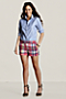 Women's Madras Mini Shorts  from Lands' End :  pink prep preppy madra