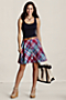 Women's Button Front Pocket Skirt from Lands' End :  buttons pockets plaid lined