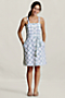 Women's Plaid Henley Sundress from Lands' End :  sun lined dress print