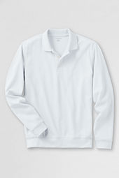 Men's Long Sleeve Banded Bottom Pima Polo Shirt