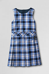 Girls' Plaid Pleated Side Buckle Jumper