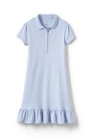 Girls Short Sleeve Ruffle Hem Dress