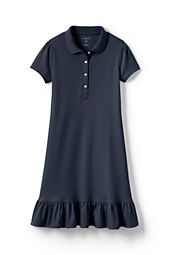 Little Girls' Short Sleeve Knit Ruffle Bottom Dress