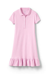 Girls' Short Sleeve Knit Ruffle Bottom Dress