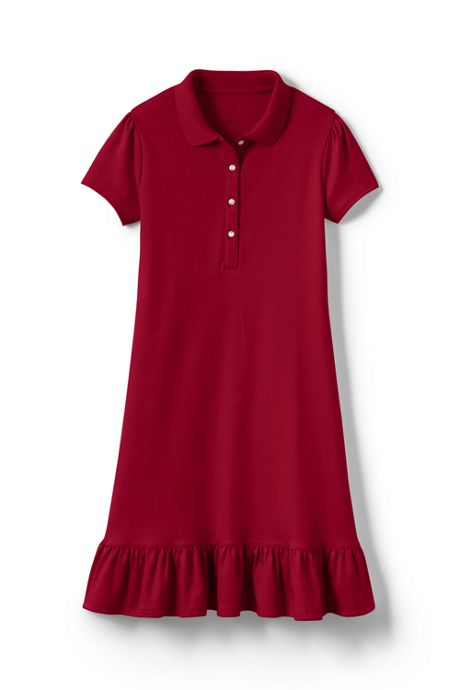 Little Girls Short Sleeve Ruffle Hem Dress