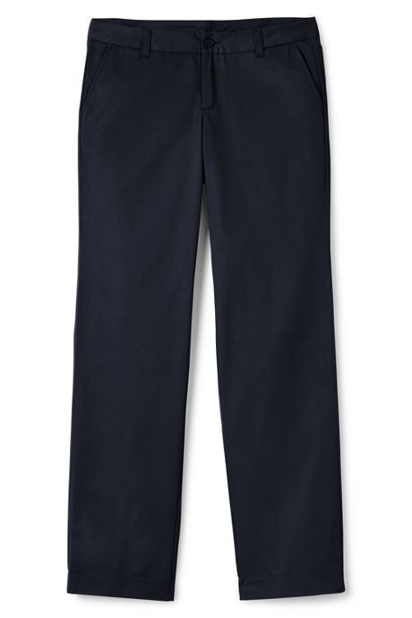 School Uniform Women's Plus Perfect Fit Plain Front Blend Chino Pant