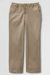 School Uniform Plain Front Iron Knee® Blend Chino Pants