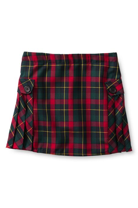 Custom Women's Side Pleat Plaid Skort Above Knee