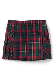 Custom Girls Side Pleat Plaid Skort Above Knee