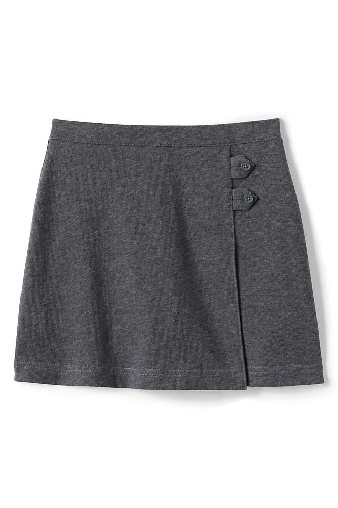 School Uniform Girls Knit Skort, Front