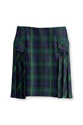 Juniors' Plaid Side Pleat Skort