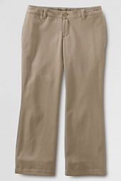 Girls' Stain Resistant Boot-cut Stretch Chino Pants