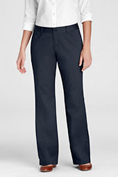 Women's Stain Resistant Boot-cut Stretch Chino Pants
