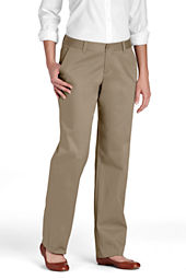 Women's Plain Front Stain Resistant Stretch Chino Pants