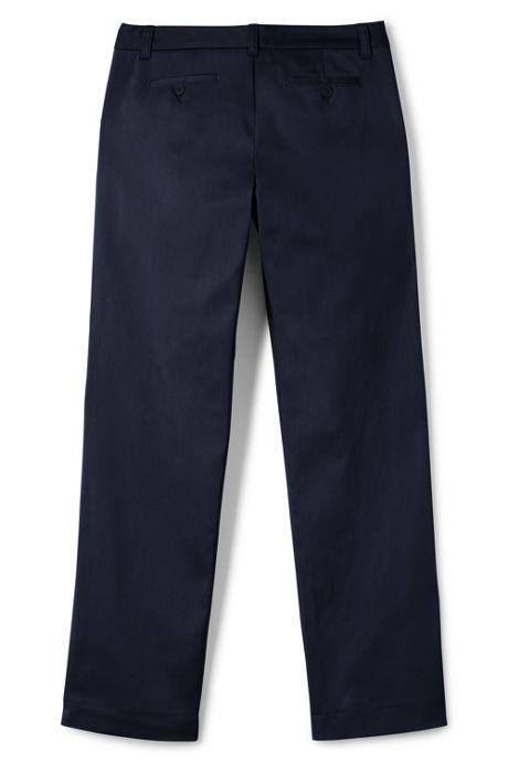 School Uniform Women's Plain Front Stretch Chino Pants