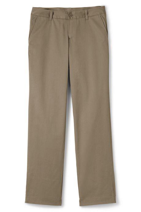 School Uniform Women's Plain Front Stretch Chino Pant