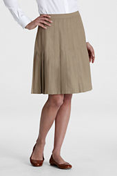 Women's Solid Pleated Skirt
