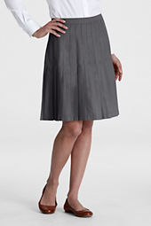 Juniors' Solid Pleated Skirt