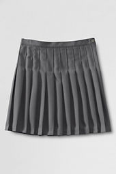 School Uniform Solid Pleated Skirt