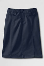 Girls' Stain Resistant Stretch Long Chino Skirt
