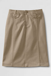 School Uniform Stain Resistant Stretch Long Chino Skirt