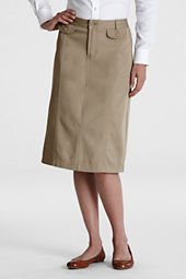 Women's Stain Resistant Stretch Long Chino Skirt
