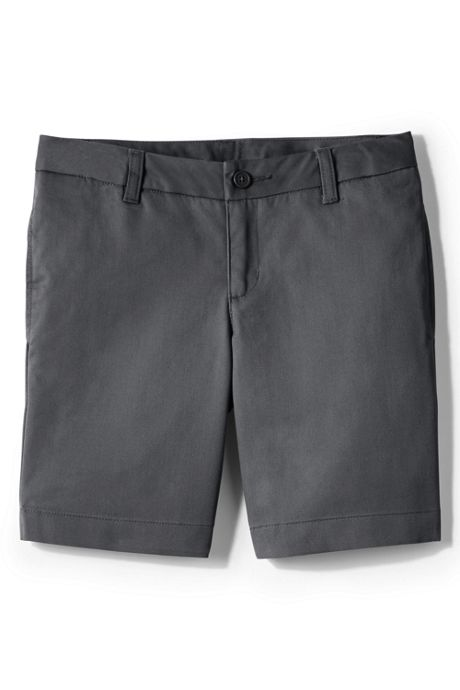 Juniors Plain Front Blend Chino Shorts