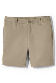 Girls Plus Plain Front Blend Chino Shorts