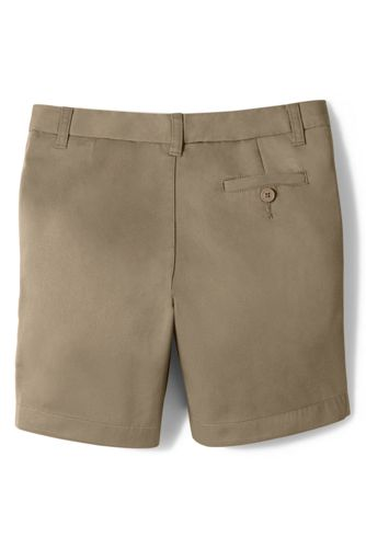 School Uniform Little Girls Plain Front Blend Chino Shorts