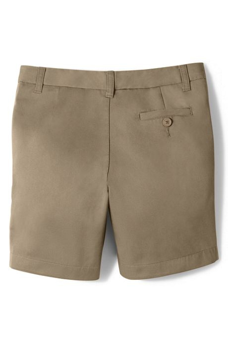 School Uniform Girls Slim Plain Front Blend Chino Shorts