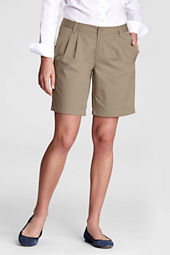 Women's Pleat Front Blend Chino Shorts