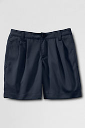 School Uniform Pleat Front Blend Chino Shorts