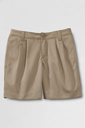 Little Girls' Pleat Front Blend Chino Shorts