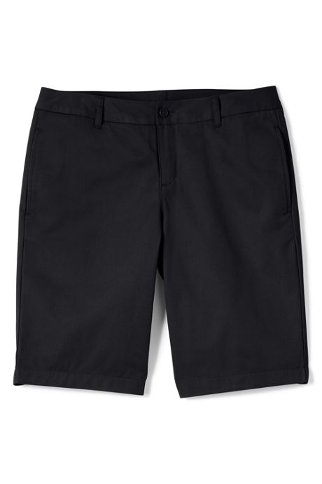 Women's Plain Front Blend Chino Shorts