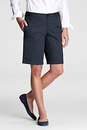 Juniors' Plain Front Blend Chino Shorts
