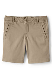 Girls' Stain Resistant Stretch Bermuda Chino Shorts