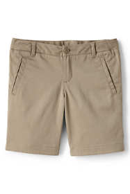 Girls Stretch Chino Bermuda Shorts