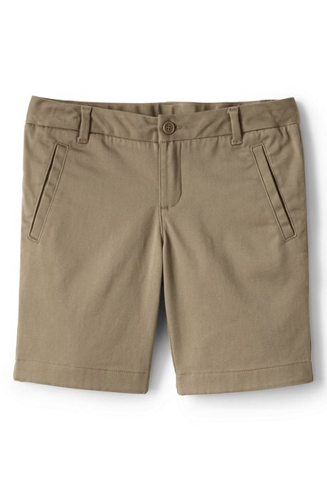 Little Girls Stretch Chino Bermuda Shorts