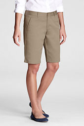 Women's Stain Resistant Stretch Bermuda Chino Shorts