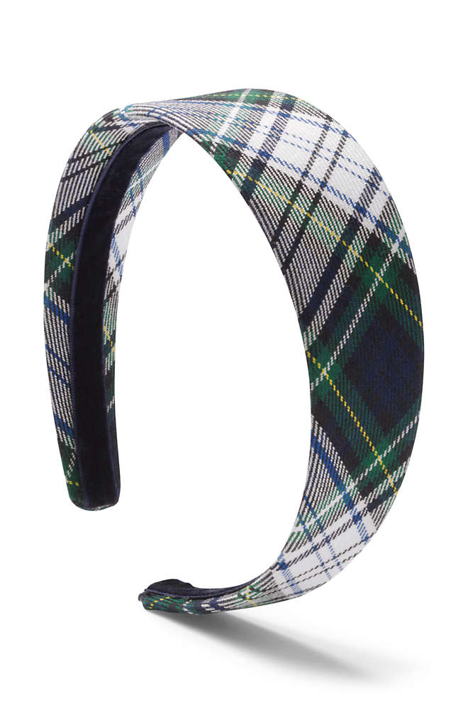 Girls Plaid Headband, Front