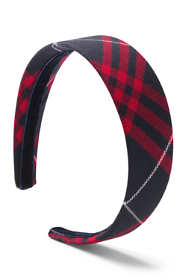 School Uniform Girls Plaid Headband
