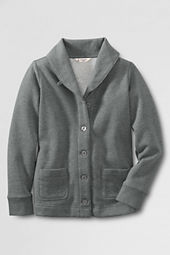 School Uniform Fleece Shawl Collar Cardigan