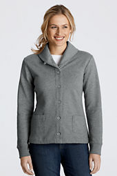 Women's Fleece Shawl Collar Cardigan