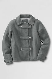 Girls' Fleece Pea Coat Cardigan