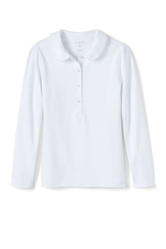 Girls Long Sleeve Peter Pan Polo by Lands' End