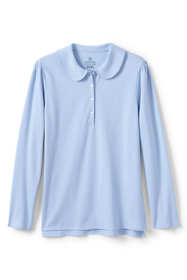 School Uniform Women's Long Sleeve Peter Pan Polo