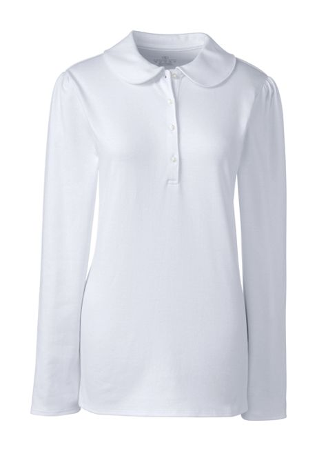 Women's Long Sleeve Peter Pan Collar Polo Shirt
