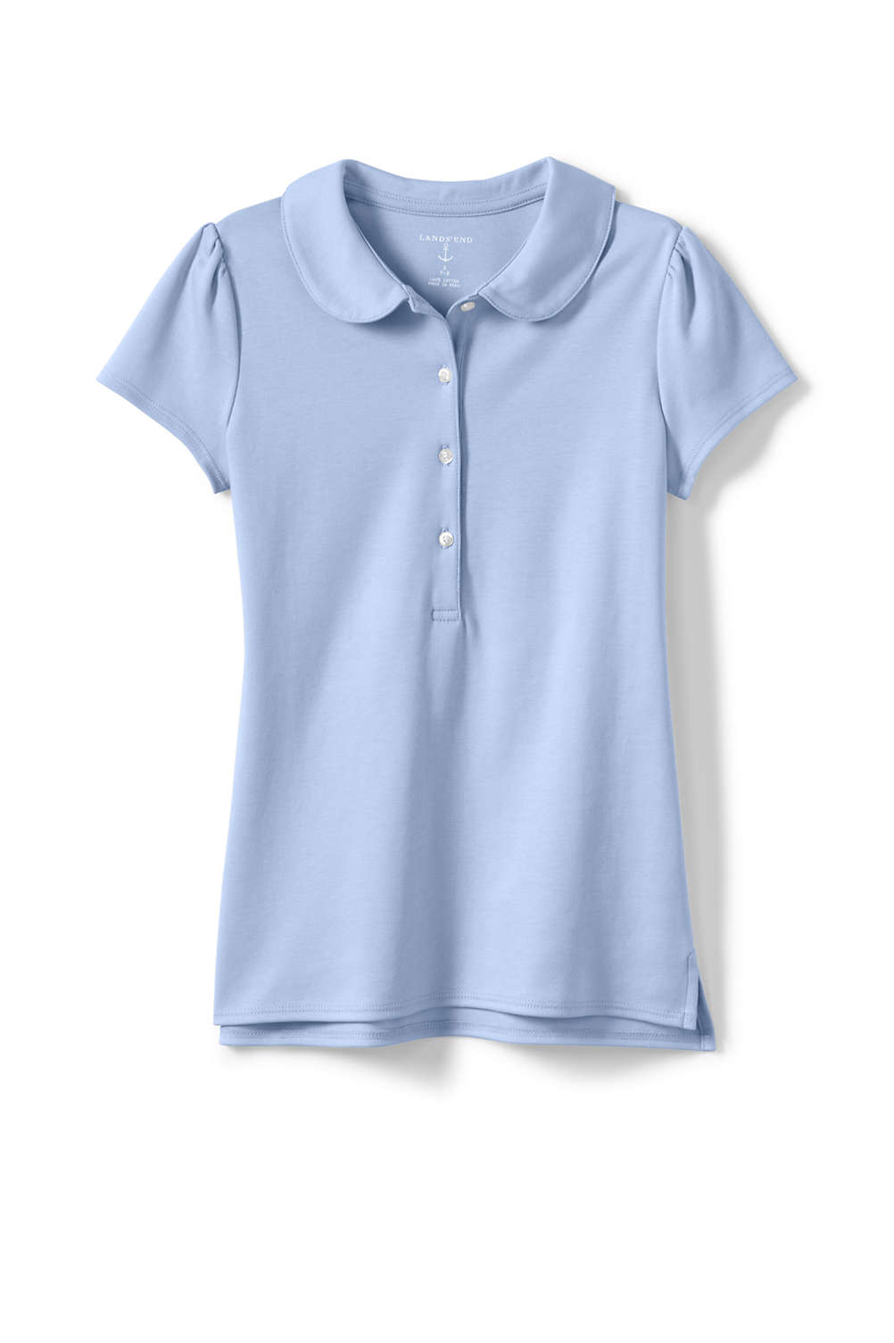 Girls Short Sleeve Peter Pan Polo From Lands End